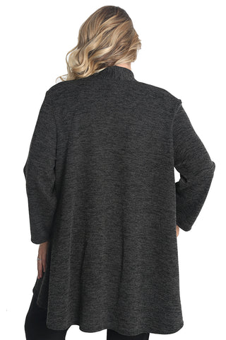 Vikki Vi Black Sweater Knit Car Coat