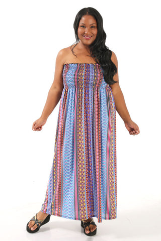 Boho Strapless Lounge Dress