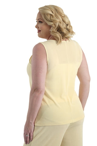Vikki Vi Classic Butter Sleeveless Shell