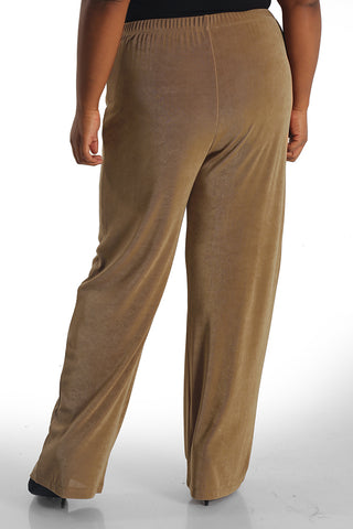 Vikki Vi Classic Baby Camel Tall Pull-On Pant