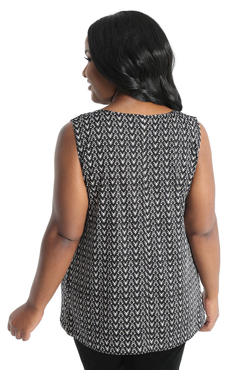 Vikki Vi Jersey Catalina Sleeveless Shell