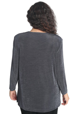 Vikki Vi Classic Charcoal Long Sleeve Tunic