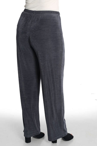 Vikki Vi Classic Charcoal Pull on Pant