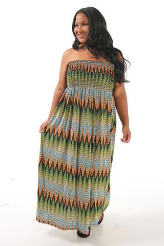 Chevron Strapless Lounge Dress