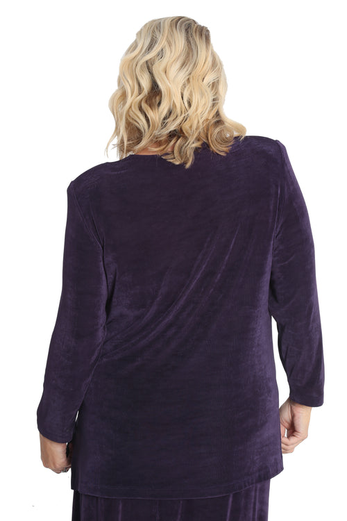 Vikki Vi Classic Concord Purple Long Sleeve Tunic