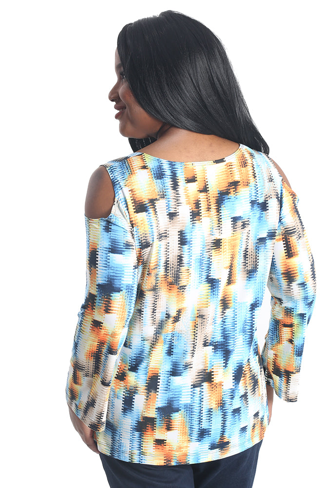 Vikki Vi Jersey Dawn Long Sleeve Peekaboo Top