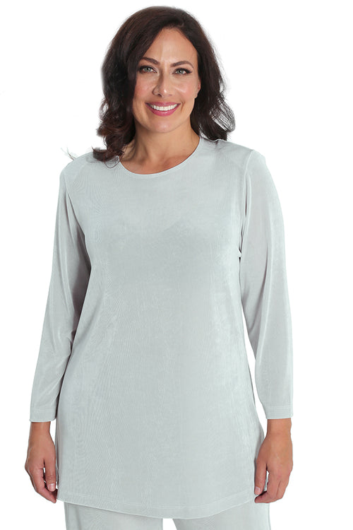 Vikki Vi Classic Dove Gray Long Sleeve Tunic