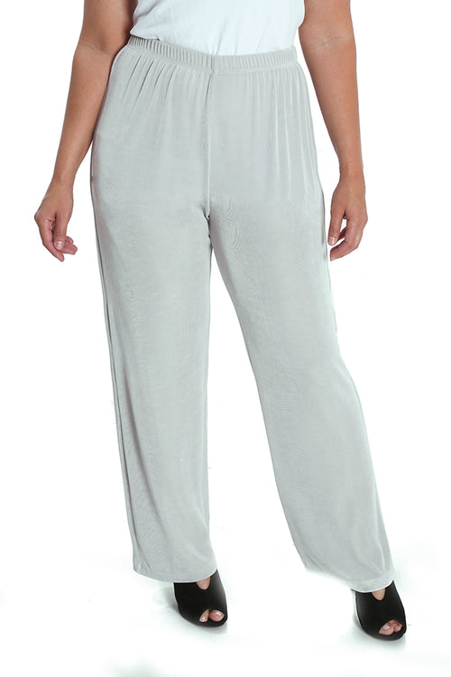 Vikki Vi Classic Dove Gray Petite Pull-On Pant