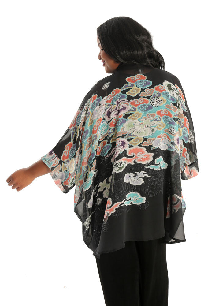 Dressori Japanese Clouds Silk Georgette Topper