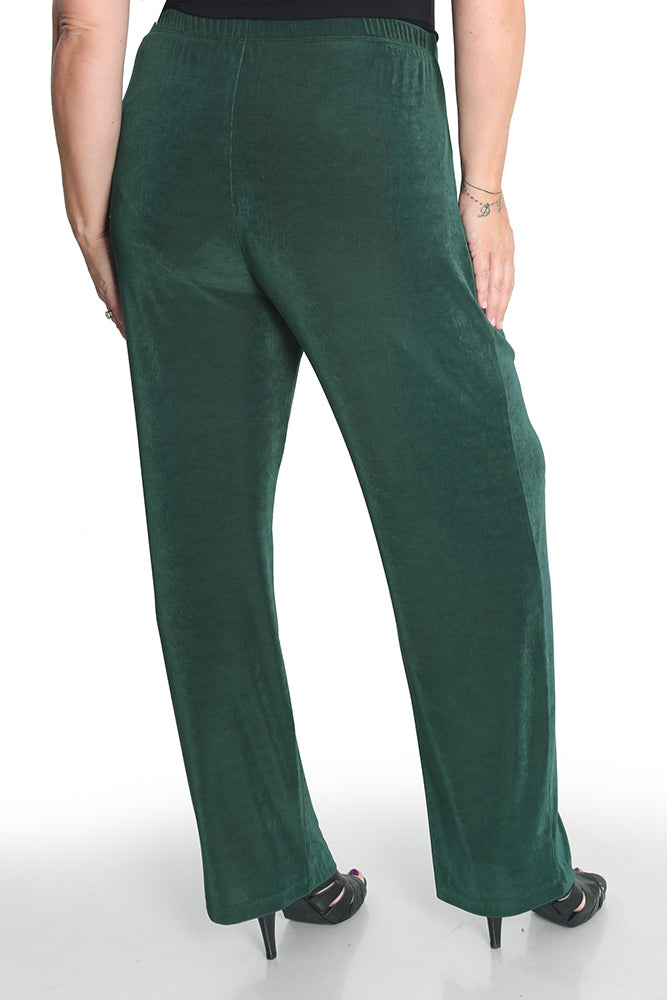 Vikki Vi Classic Fir Green Pull on Pant