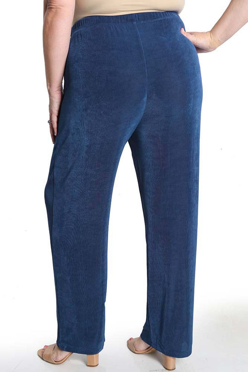 Vikki Vi Classic French Blue Pull on Pant