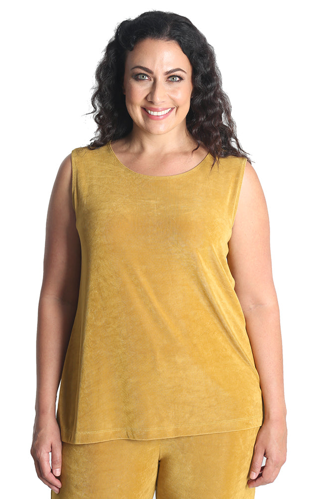 Vikki Vi Classic Honey Sleeveless Shell