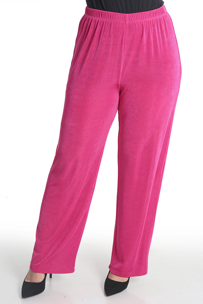 Vikki Vi Classic Hot Pink Petite Pull-On Pant