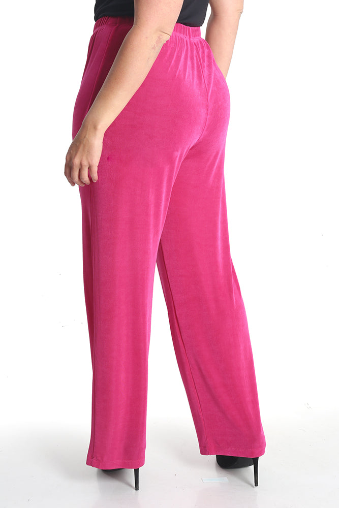 Vikki Vi Classic Hot Pink Pull on Pant