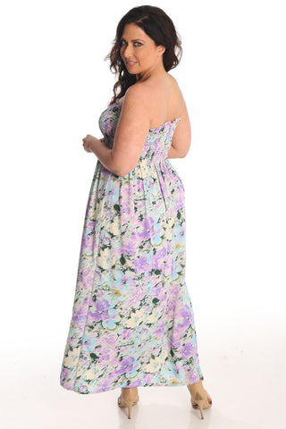 Lilac Dream Strapless Lounge Dress