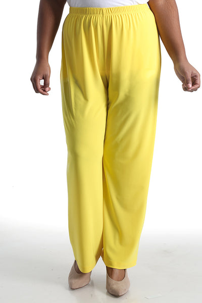 Vikki Vi Jersey Lemon Petite Pull-On Pant