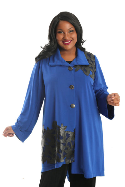 Lindi Royal Blue Fashion Car Coat