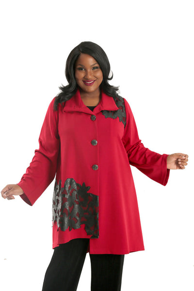 Lindi Ruby Red Fashion Car Coat