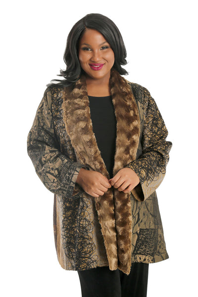 Lindi Faux Fur Trimmed Jacket