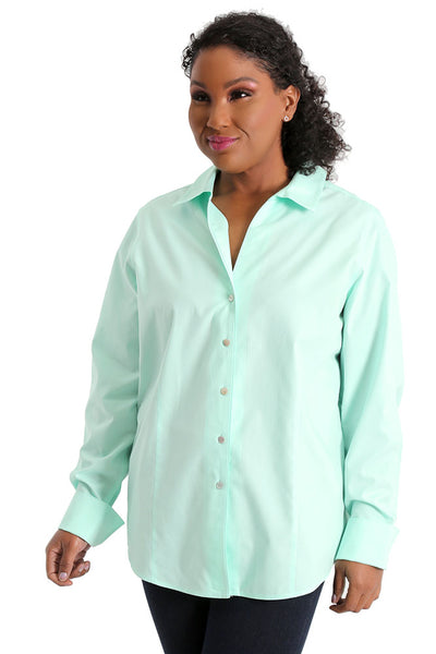 Foxcroft Lauren Plus Mint Julip Pinpoint Shirt
