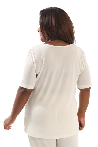 Vikki Vi Classic Natural Short Sleeve Top