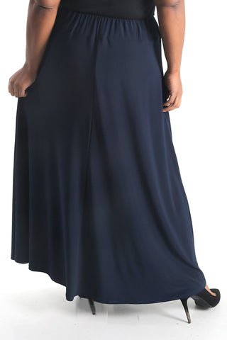 Vikki Vi Jersey Navy True Maxi Skirt
