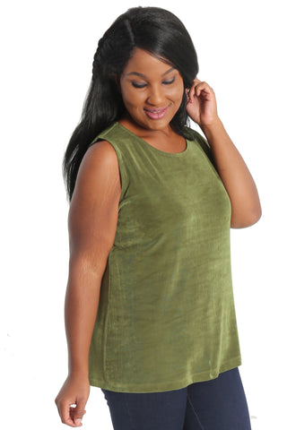 olive green sleeveless shell
