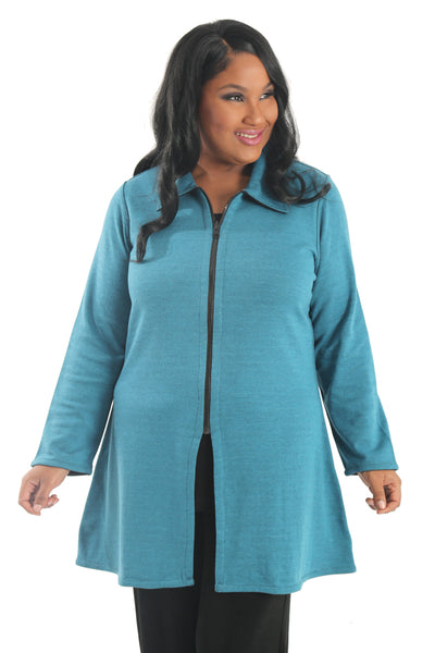 Parsley and Sage Reversable Marlow Jacket in Teal