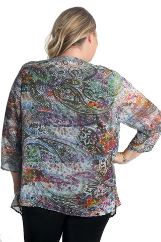 Vikki Vi Peace Sheer Swing Cardigan