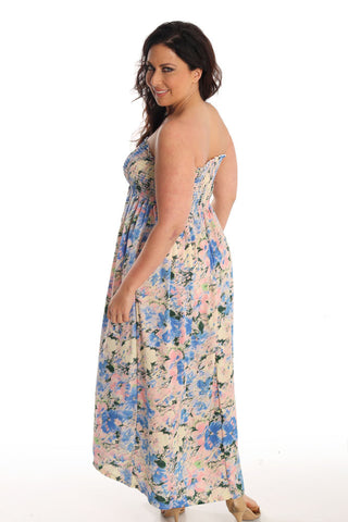 Iris Dream Strapless Lounge Dress