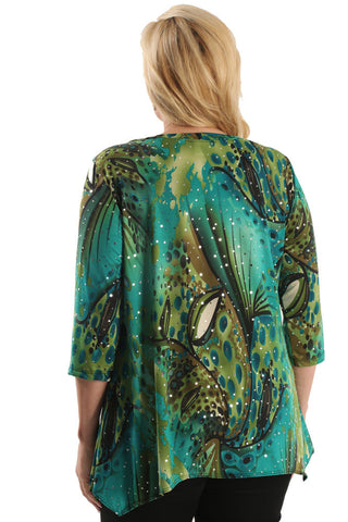 Vikki Vi Jersey Peacock Dream Tunic