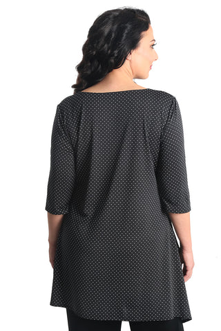 Vikki Vi Jersey Pin Dot Tunic