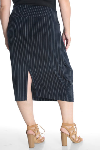 Vikki Vi Classic Pinstripe Pencil Skirt