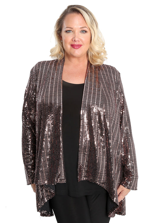 Vikki Vi Rose Gold Hi-Lo Jacket
