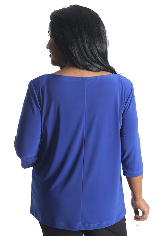 Vikki Vi Jersey Royal Blue Deep Scoop Neck Top