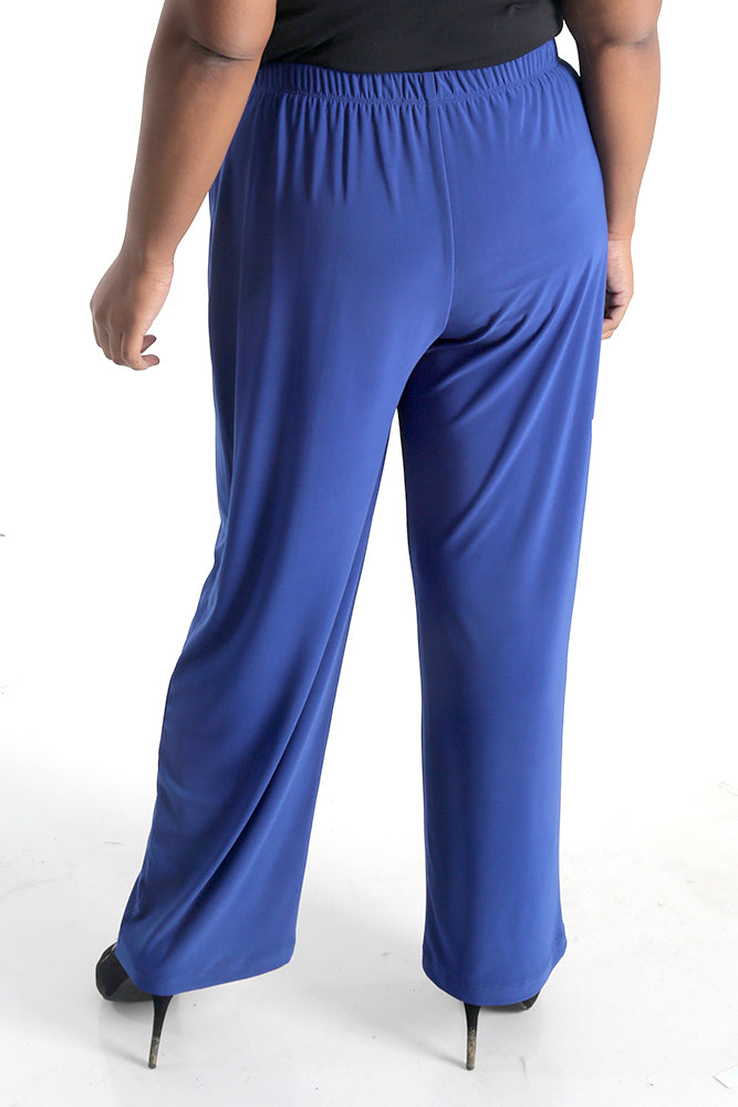 Vikki Vi Jersey Royal Blue Petite Pull-On Pant