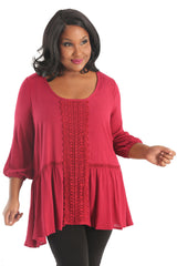 plus size drop waist top
