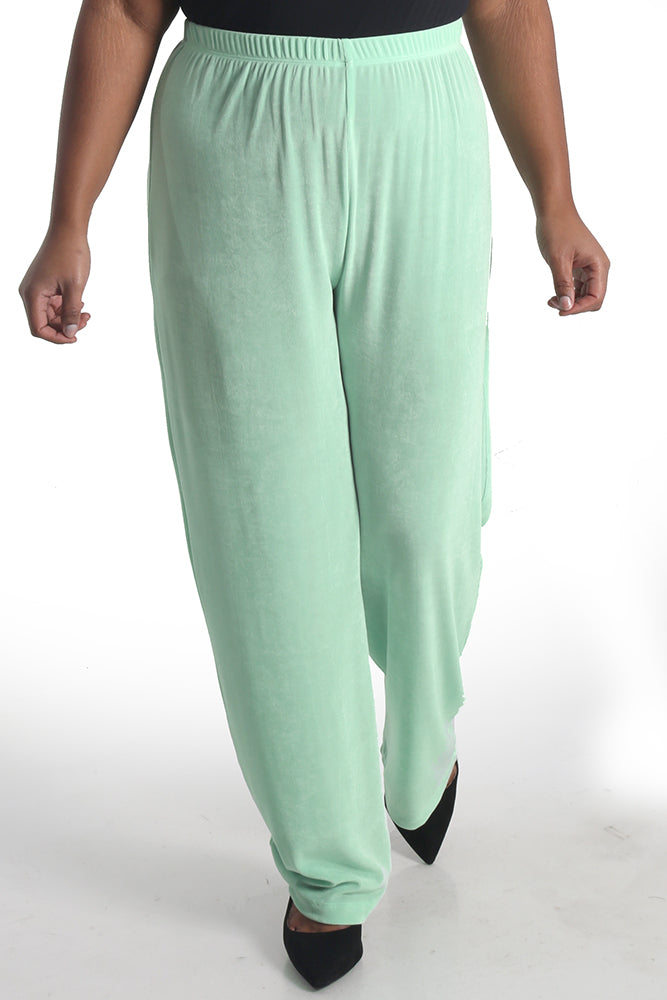 Vikki Vi Classic Sea Glass Pull on Pant