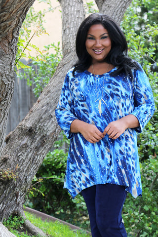 Vikki Vi Jersey Starry Night Tunic