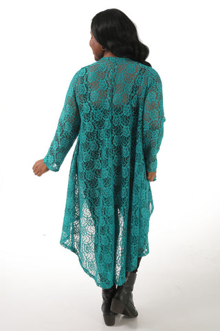 Teal Lace Swing Duster