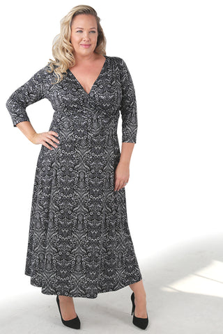 Vikki Vi Jersey Tori Faux Wrap Maxi Dress