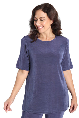 Lydia in wisteria short sleeve tunic