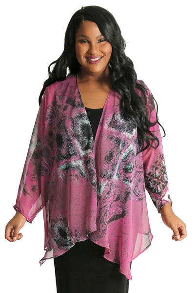 Vikki Vi Allure Sheer Swing Cardigan
