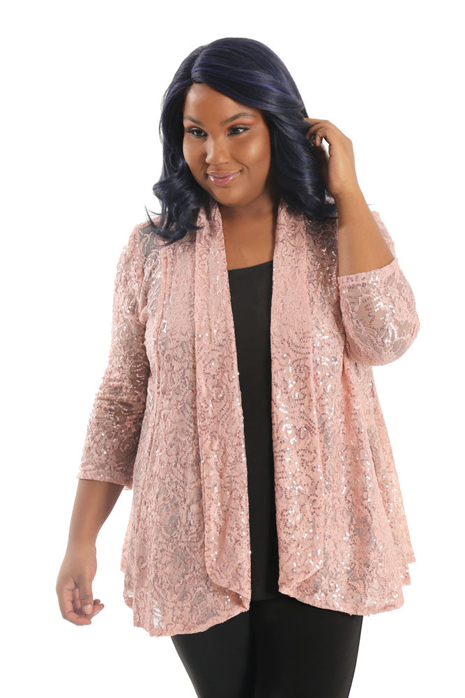 Vikki Vi Amor Lace Fit and Flare Cardigan