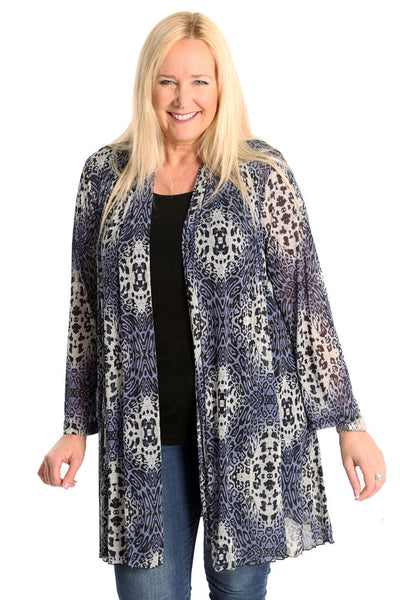 Vikki Vi Animal Mesh Gored Duster