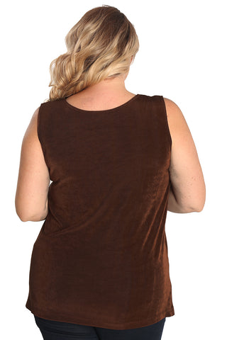 Vikki Vi Classic Bronze Long Shell Tunic