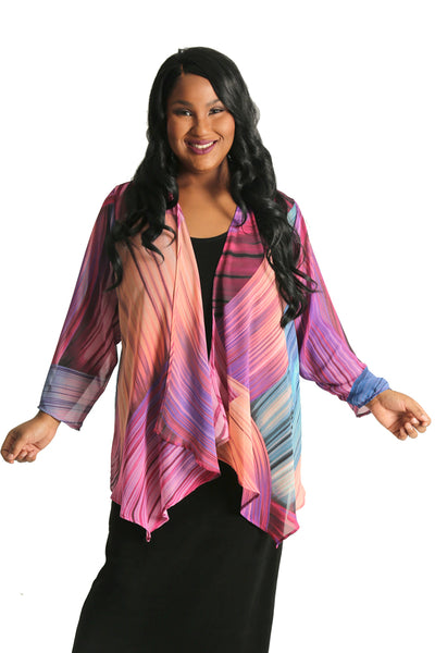 Vikki Vi Capri Sheer Swing Cardigan