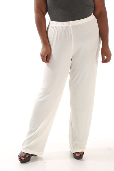 Vikki Vi Classic Natural Pull-On Pant