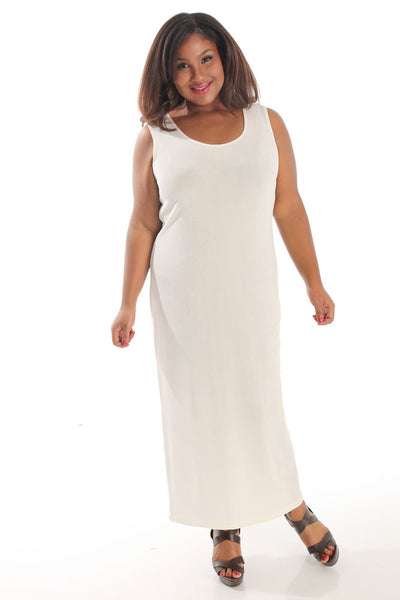 Vikki Vi Classic Natural Maxi Tank Dress
