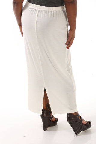 Vikki Vi Classic Natural Straight Maxi Skirt